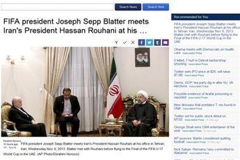 بازتاب سفر بلاتر به ایران در رسانههای جهان