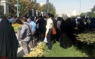 ادامه تجمع کارگزاران صندوق بیمه کشاورزی در تهران