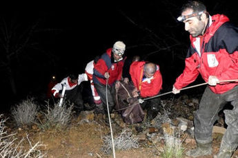 20 فرد گرفتار در حاشیه رودخانه جاجرود بر اثر سیل نجات یافتند