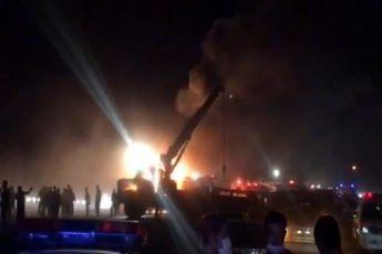 تصادف مرگبار اتوبوس با تانکر در نطنز