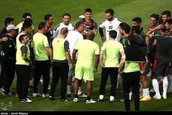 اولین تمرین تیم ملی فوتبال در روز بارانیِ گراتس