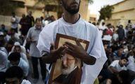 """اعتصاب فعالان مقابل سفارت بحرین در لندن در محکومیت سالروز کشتار """"الدراز"""""""