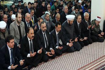 حضور اسد در مراسم ولادت پیامبر + تصاویر