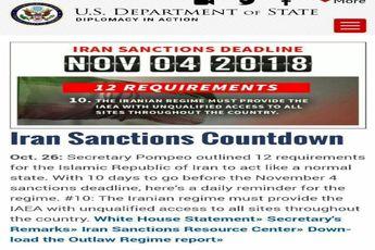 شمارش معکوس آمریکا برای تحریم  ایران