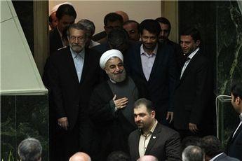 همراهان روحانی در مجلس