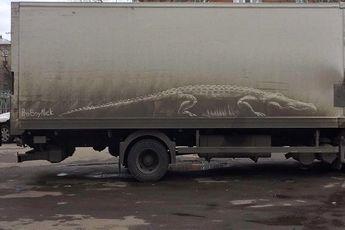 نقاشی های فوق زیبا بر روی ماشینهای کثیف / عکس