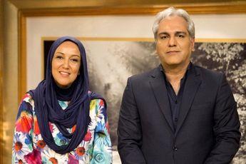 بازیگر زن سریال «عاشقانه» کنار مهران مدیری در «دورهمی»/ عکس