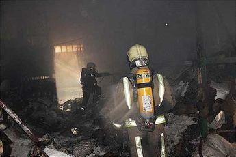 آتش سوزی فرحزاد، موجب جراحت آتش نشان شد