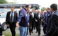 تصاویری از حضور ظریف در جمع ملی پوشان فوتبال