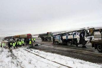 باز هم اتوبوس اسکانیا حادثه آفرین شد