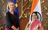 گفتگوی موگرینی با وزیر امور خارجه هند در رابطه با لزوم حفظ توافق هسته ای با ایران