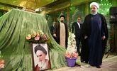 تجدید میثاق رییس جمهور و اعضای هیات دولت با آرمانهای امام خمینی(ره)