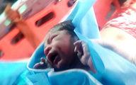 تولد نوزاد داخل بالگرد اورژانس هوایی کرمانشاه