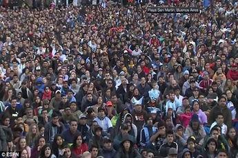 شادی آرژانتینیها در بوینس آیرس پس از صعود