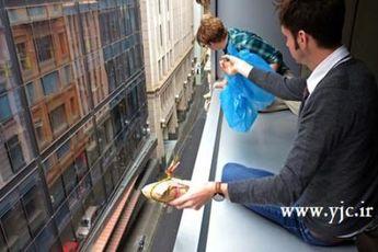 جالب ترین راه رساندن غذا سر میزها + عکس