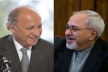 وزرای خارجه ایران و فرانسه دیدار کردند