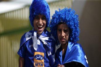 حضور هواداران استقلال مقابل ورزشگاه آزادی