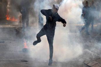 درگیری میان جوانان فلسطینی و نظامیان صهیونیست در کرانه باختری