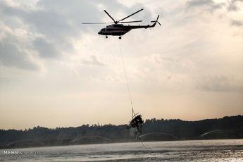 پیکر خلبان مفقود شده بالگرد شرکت نفت در آبهای خلیجفارس پیدا شد