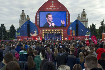افتتاح فستیوال هواداران فیفا در مسکو