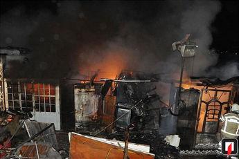آتش سوزی مهیب در جاده خاوران