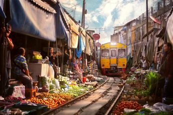 با خطرناک ترین بازار جهان آشنا شوید / بازار میوه بانکوک / فیلم