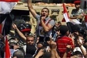 تشکیل زنجیره انسانی طرفداران مرسی